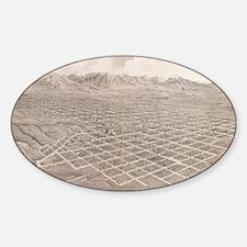 Vintage Pictorial Map of Salt Lake  Decal
