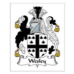 Wesley Family Crest Small Poster