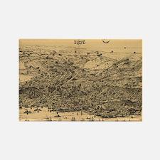Vintage Pictorial Map of San Fran Rectangle Magnet