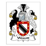 Wescott Family Crest Small Poster