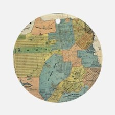 Vintage Map of San Francisco (1890) Round Ornament