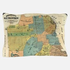 Vintage Map of San Francisco (1890) Pillow Case