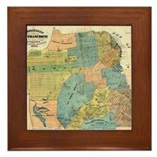 Vintage Map of San Francisco (1890) Framed Tile