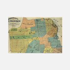 Vintage Map of San Francisco (189 Rectangle Magnet