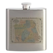 Vintage Map of San Francisco (1890) Flask