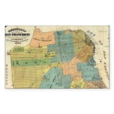 Vintage Map of San Francisco ( Decal