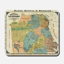 Vintage Map of San Francisco (1890) Mousepad