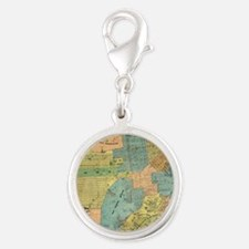 Vintage Map of San Francisco ( Silver Round Charm
