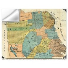 Vintage Map of San Francisco (1890) Wall Decal