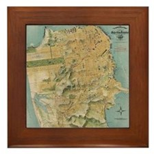 Vintage Map of San Francisco (1915) Framed Tile