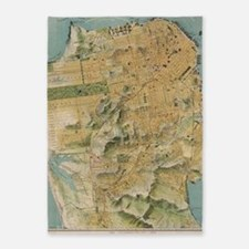 Vintage Map of San Francisco (1915) 5'x7'Area Rug