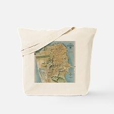 Vintage Map of San Francisco (1915) Tote Bag
