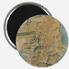 Vintage Map of San Francisco (1915) Magnet