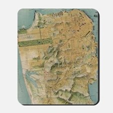 Vintage Map of San Francisco (1915) Mousepad