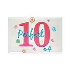 Perfect 10 x4 Rectangle Magnet
