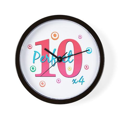 Perfect 10 x4 Wall Clock