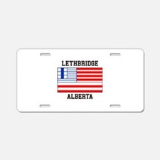Lethbridge, Alberta Aluminum License Plate