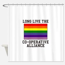 Long Live Co-operative Alliance Shower Curtain