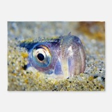 Buried Sandfish is watching you! 5'x7'Area Rug