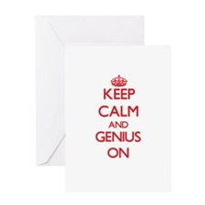 Keep Calm and Genius ON Greeting Cards