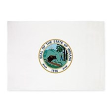 Indiana State Seal 5'x7'Area Rug