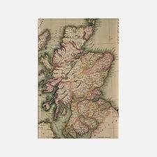 Vintage Map of Scotland (1814) Rectangle Magnet