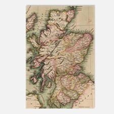 Vintage Map of Scotland ( Postcards (Package of 8)