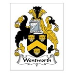 Wentworth Family Crest Small Poster