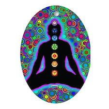 Chakra Energy Oval Ornament