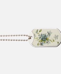 Cute Forget me not Dog Tags