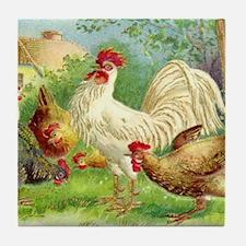 Unique Chickens Tile Coaster