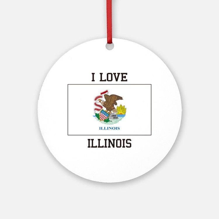 I Love Illinois Ornament (Round)