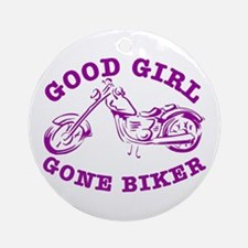 Good Girl Gone Biker #2 Ornament (Round)