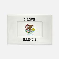 I Love Illinois Magnets