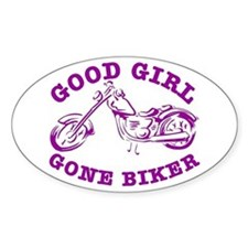 Good Girl Gone Biker #2 Oval Decal