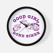 Good Girl Gone Biker #2 Wall Clock