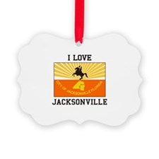 I Love Jacksonville Ornament
