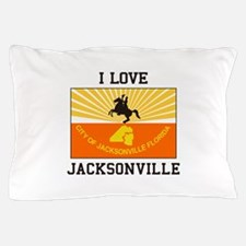 I Love Jacksonville Pillow Case