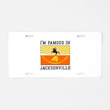 Famous Jacksonville Aluminum License Plate