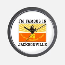 Famous Jacksonville Wall Clock