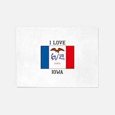I Love Iowa 5'x7'Area Rug