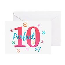 Perfect 10 x7 Greeting Card