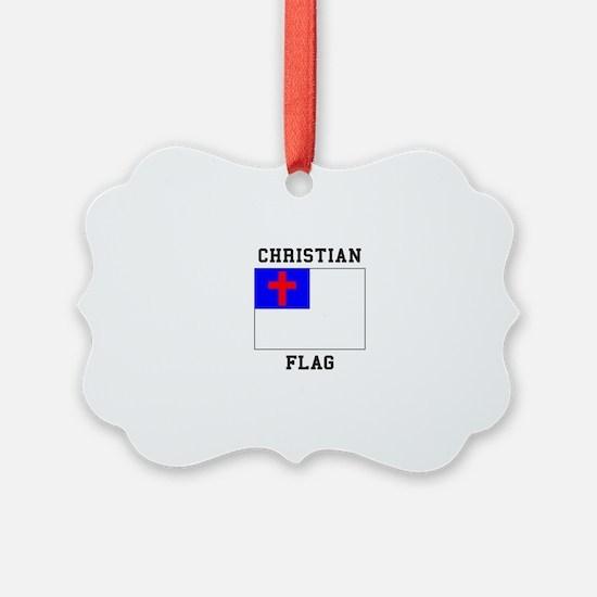 Christian Flag Ornament
