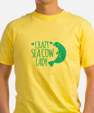 Crazy SEA COW LADY (manatee) T-Shirt