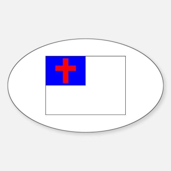 Christian Flag Decal