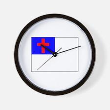 Christian Flag Wall Clock
