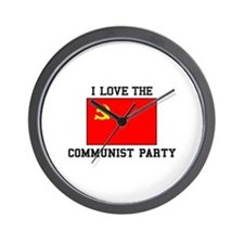 I Love Communist Party Wall Clock
