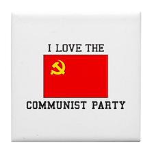 I Love Communist Party Tile Coaster