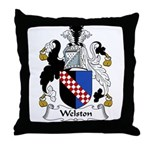 Welston Family Crest Throw Pillow