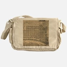 Vintage Map of Savannah Georgia (181 Messenger Bag